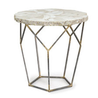 Loren Fossilized Clam Table