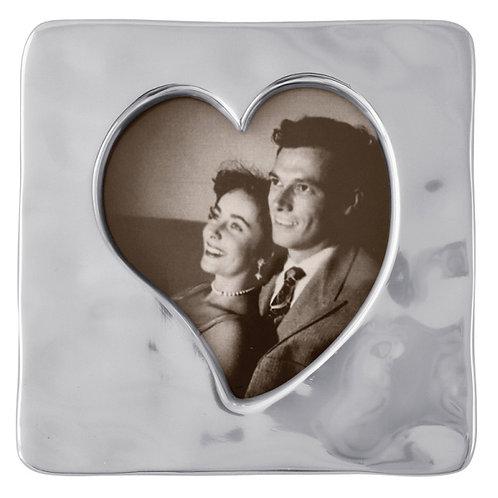 Pewter 4x6 Heart Frame