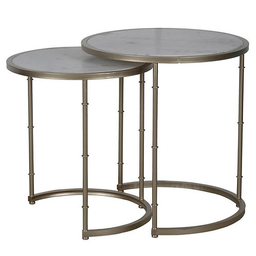 Marble Tabletop Tables S/2