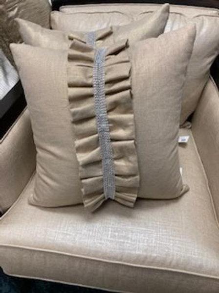 Gold Rhinestone Pillow