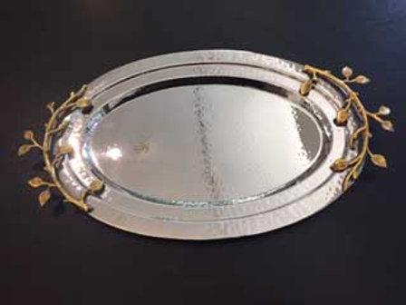 Oval Tray w/vine