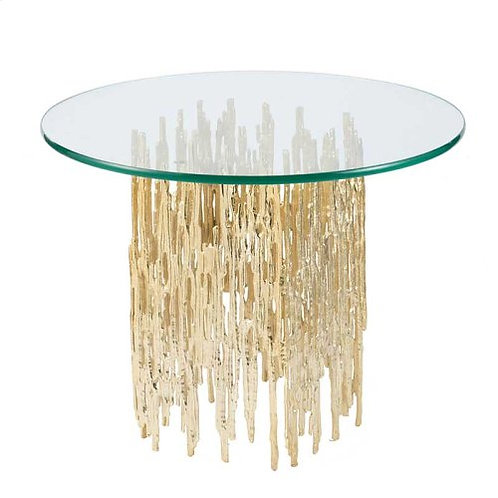 Table with Molten Gold Base