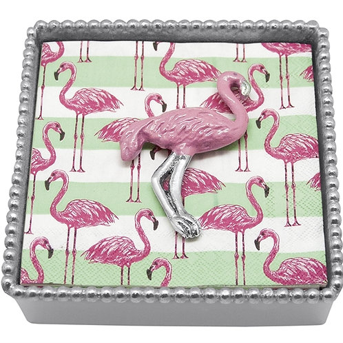 Pink Flamingo Napkin Caddy