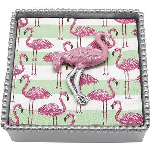 Pink Flamingo Napkin Caddy