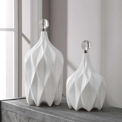 Klara White Bottles set/2
