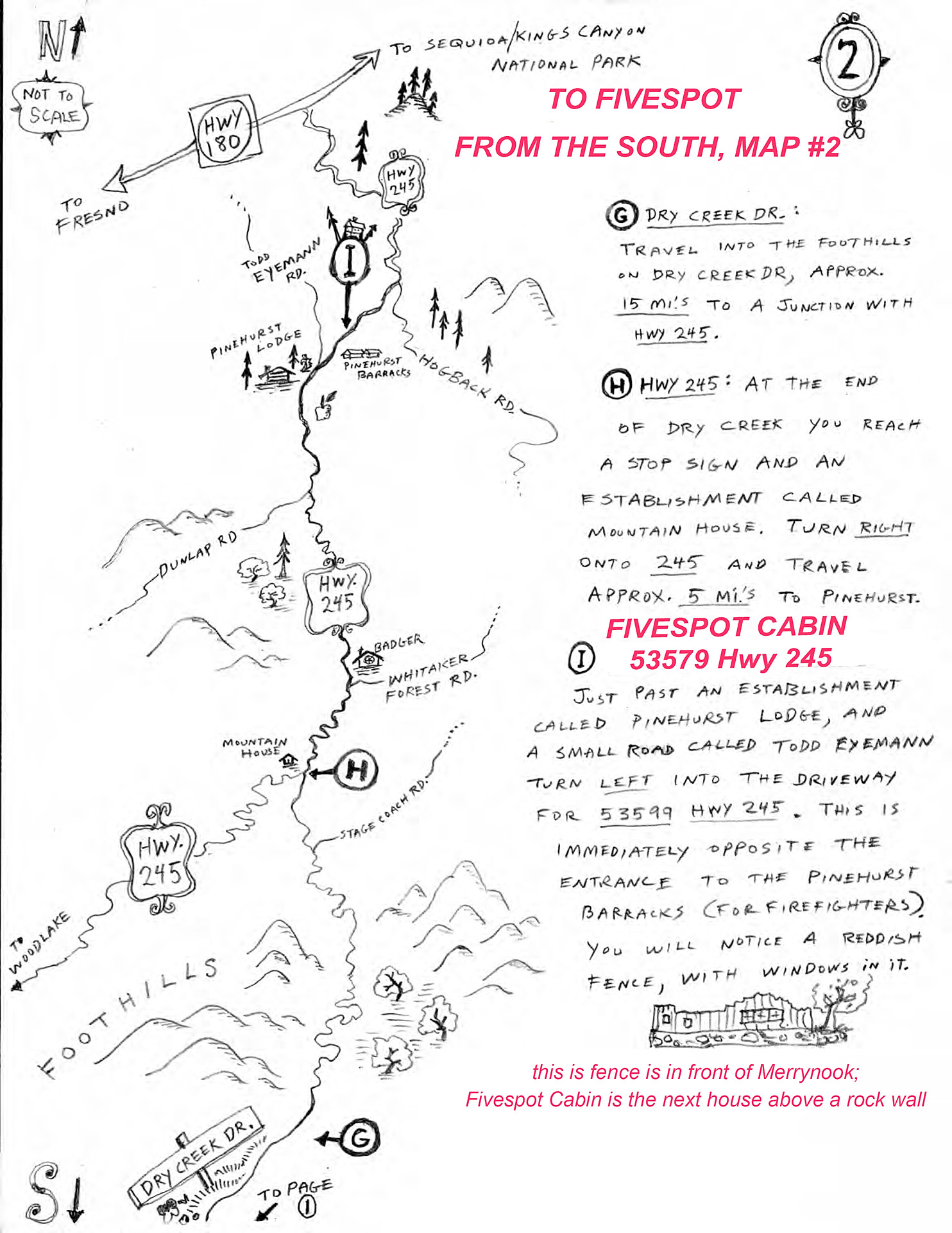 Directions to Fivespot from the South p2