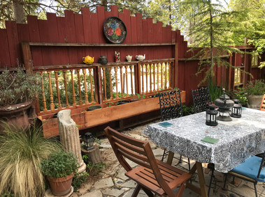 patio table with seating for 6