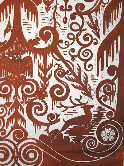 Broadsheet woodblock print © Bachrun LoMele