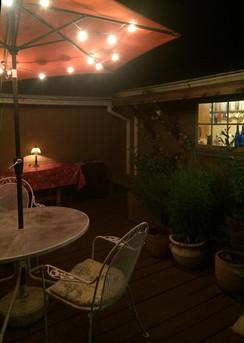 Merrynook side deck at night