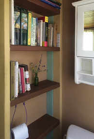bathroom library (of course and why not)
