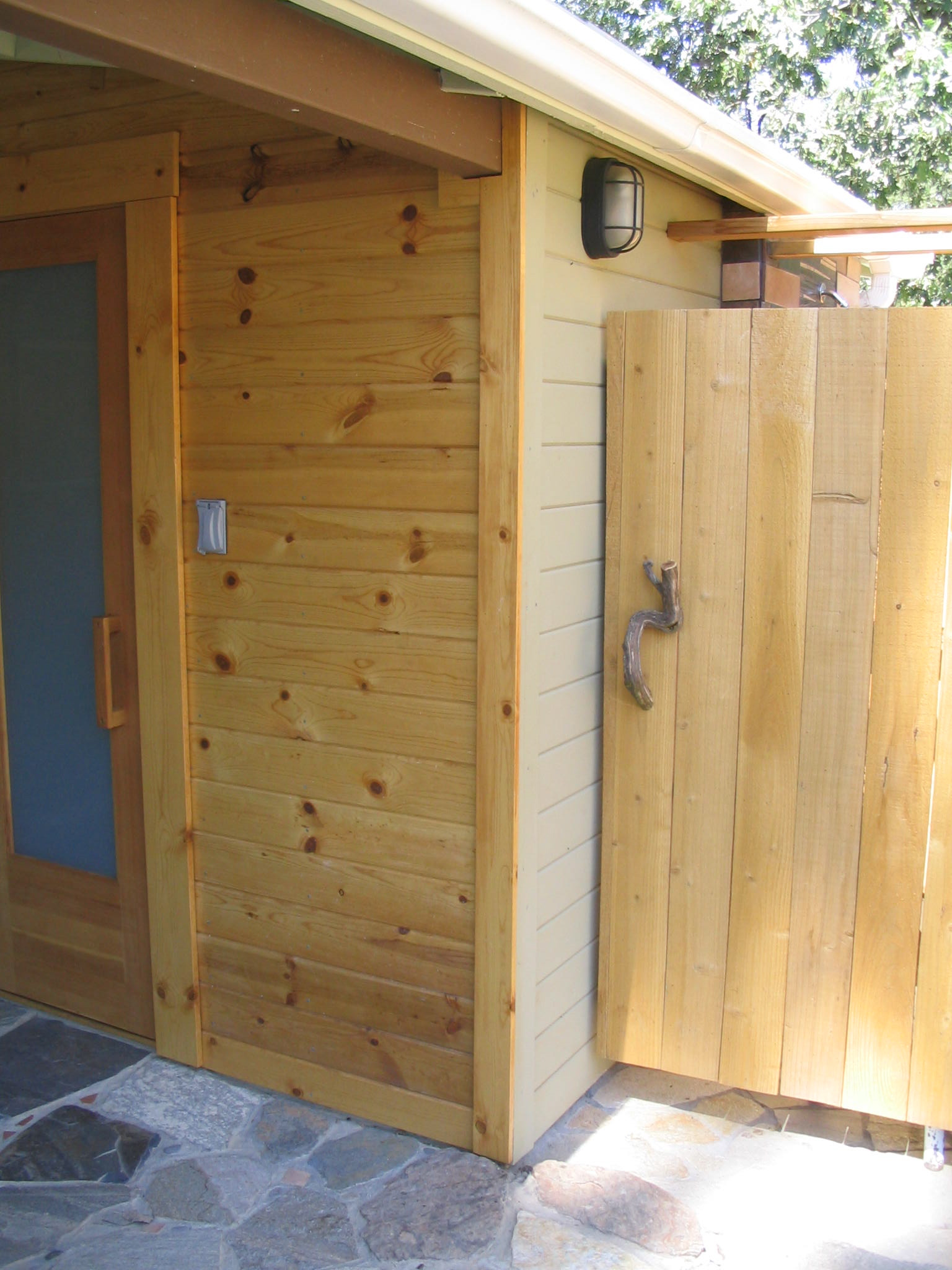 fivespot sauna and outdoor shower