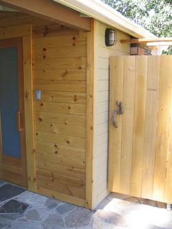 fivespot sauna and outdoor shower