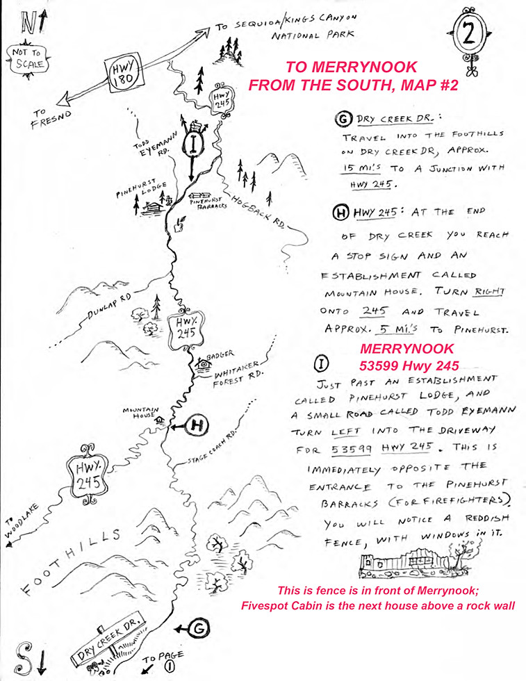 Directions to Merrynook from the South p2