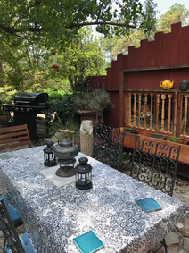 BBQ on front patio