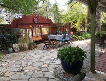 Merrynook's front patio