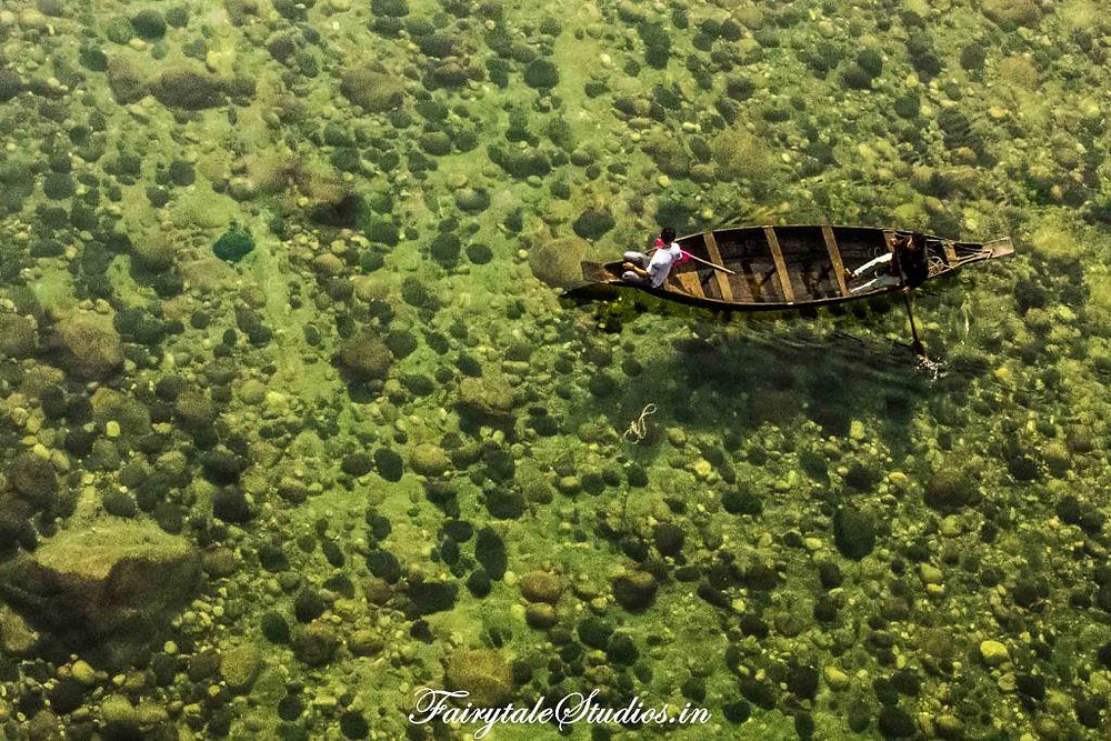 Crystal clear waters of Shnonpdeng are a delight to visit in Meghalaya