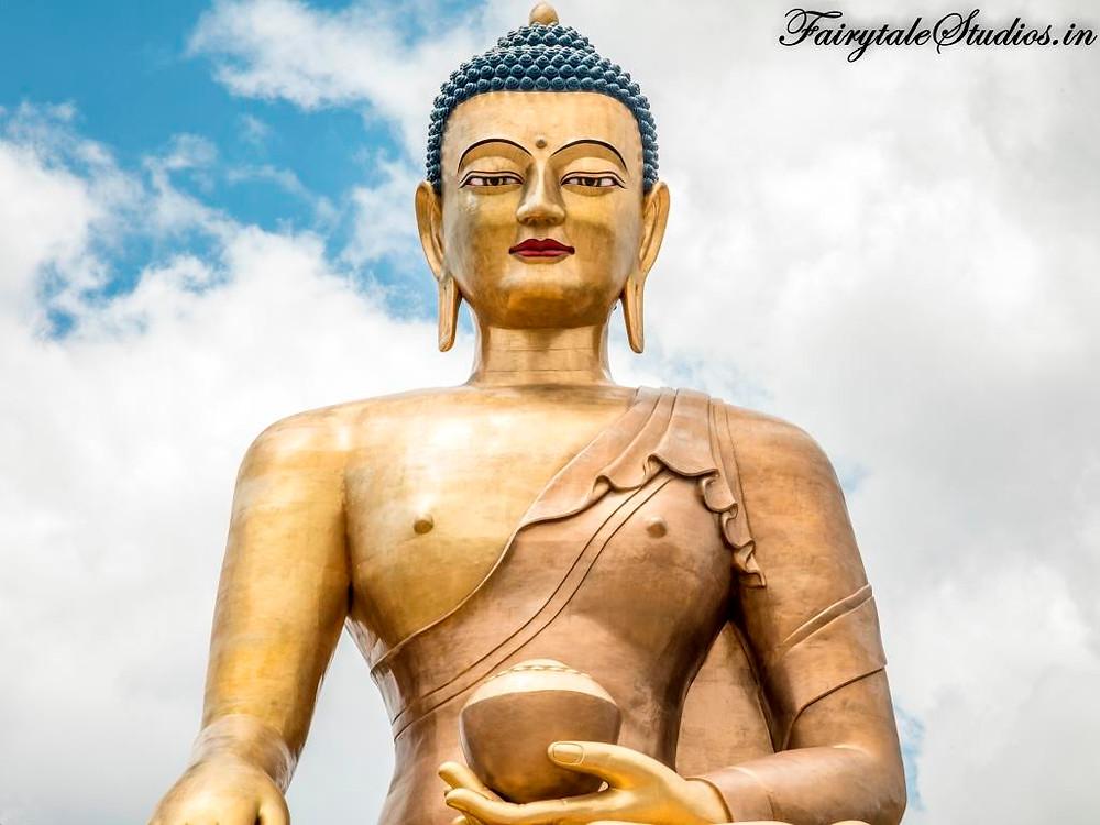 Statue of Lord Buddha in Bhutan - The Bhutan Odyssey