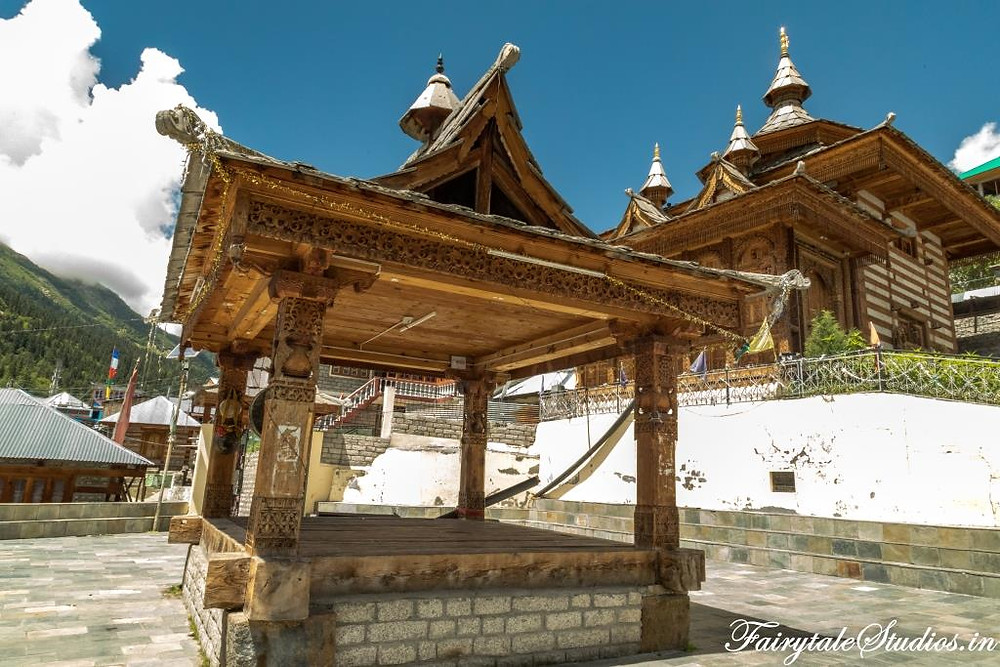 Bering Nag temple courtyard in Sangla Valley, Kinnaur_Plan your trip to Spiti Valley