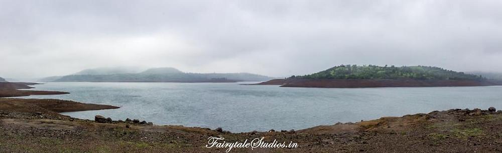Bhandardara lake is on the way to Purushwadi village, Maharashtra