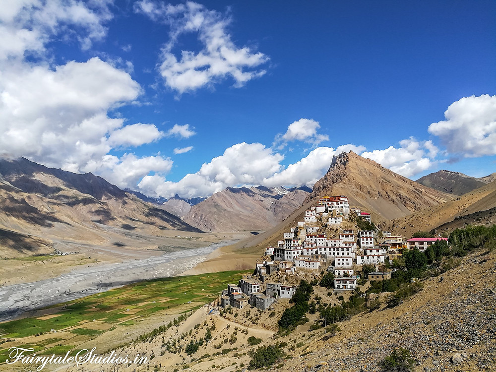 We trekked on a hill behind the Key monastery to get this click
