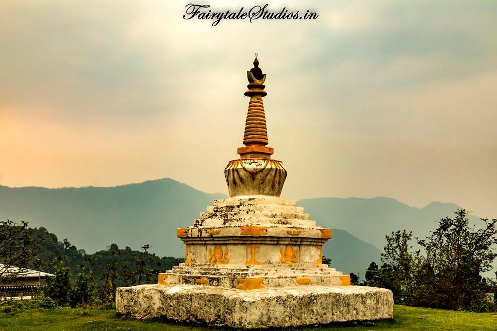 A buddhist stupa in Bhutan - The Bhutan Odyssey