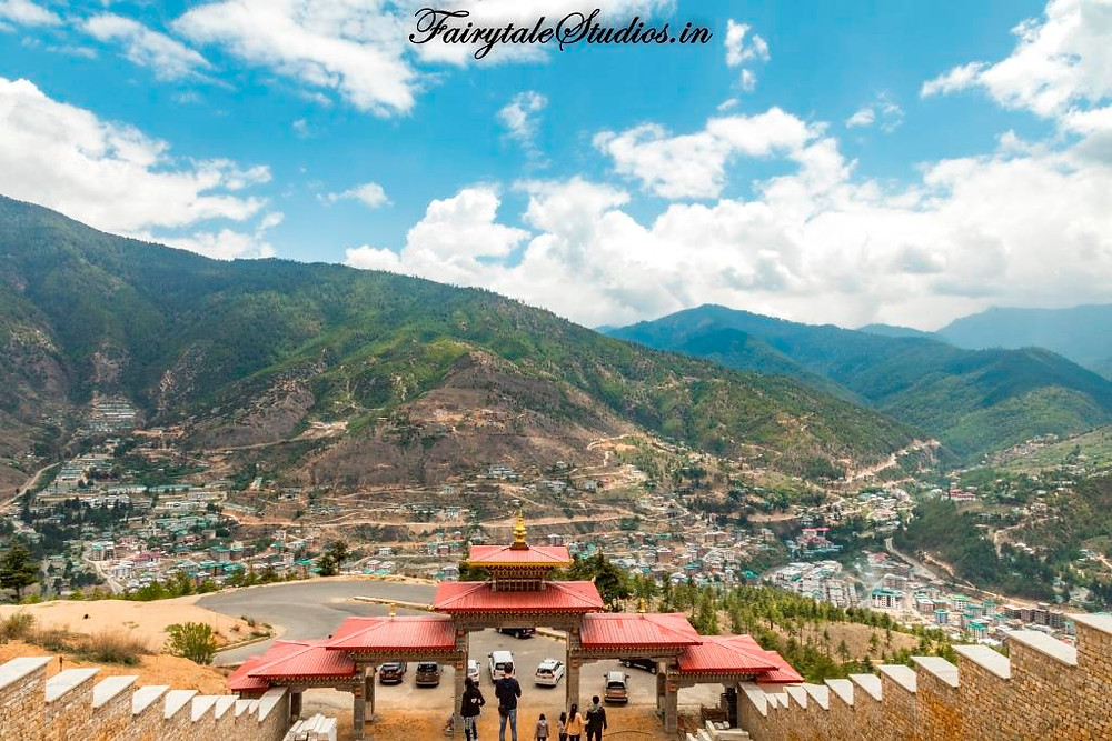 The view of Thimphu valley and surrounding mountains as seen from the top of the hill from Buddha Dordenma statue- Thimphu_The Bhutan Odyssey_Places to visit in Thimphu