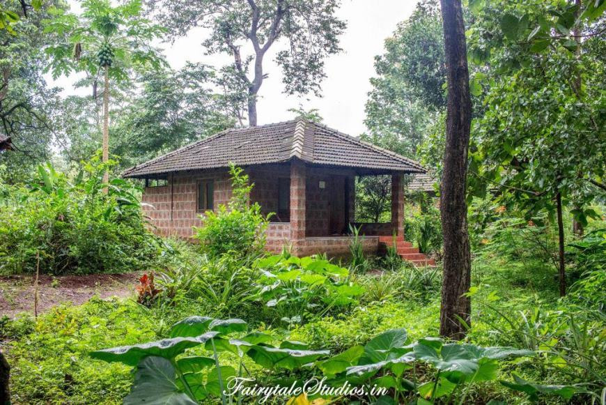 Our cottage during our stay at Dudhsagar Plantation in Goa, India