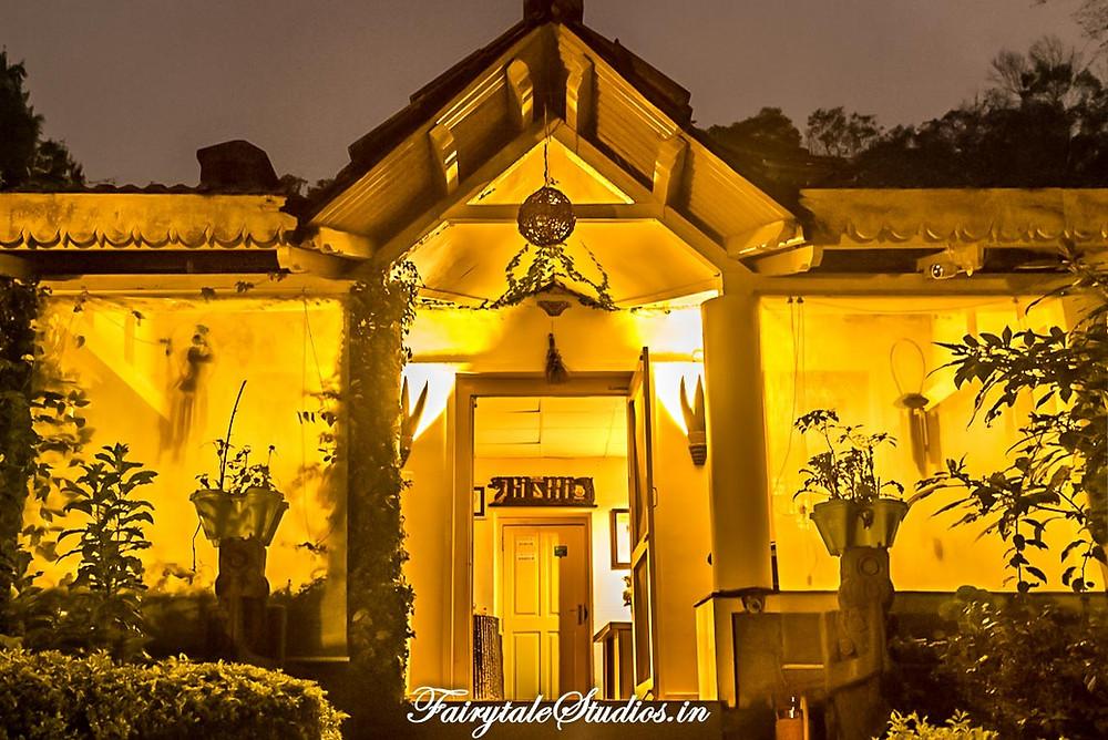 The yellow lights look lovely in the main building @ The Fern Creek, Kodaikanal, India