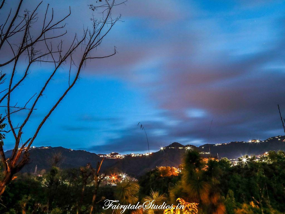 View of Mussoorie from the open terrace at Walterre, Dehradun