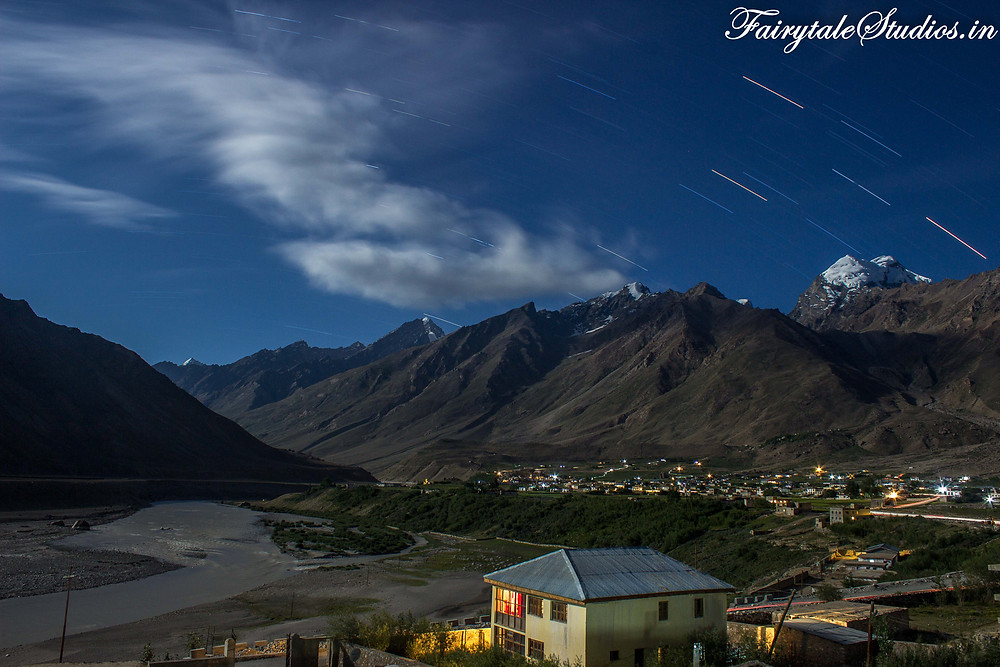 Captured some Star trails over Padum while doing night photography (The Zanskar Odyssey travelogue)