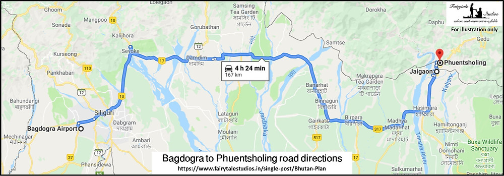 Road directions from Bagdogra/ Siliguri Airport, West Bengal to Jaigaon, Indo-Bhutanese border_Plan your trip to Bhutan_The Bhutan Odyssey