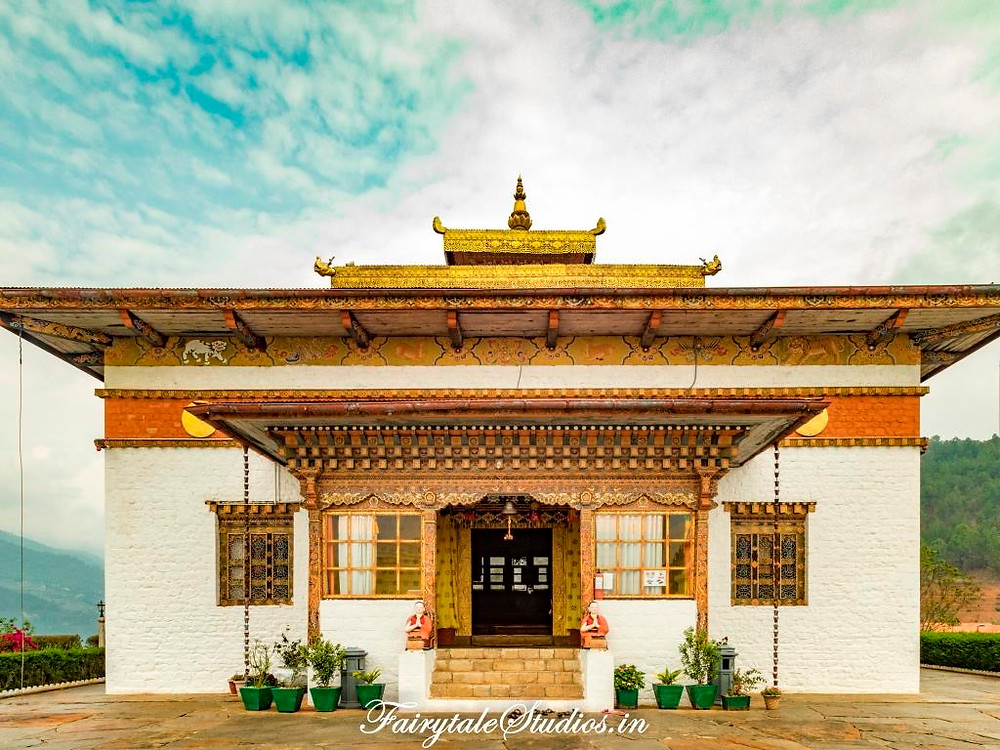 Temple of Lord Avalokiteshvara at the Sangchen Dorji Lheundrup Nunnery, Punakha - Bhutan
