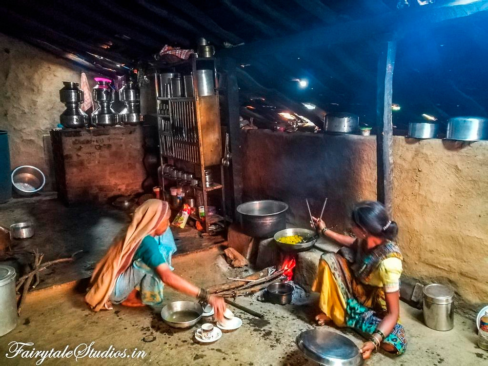 The kitchen of our homestay at Purushwadi village, Maharashtra, India