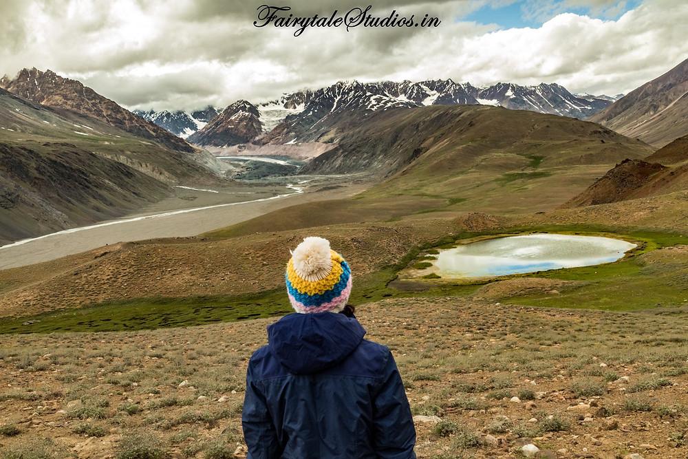 The Chandra-Bhaga mountain range as seen while trekking to Chandratal Lake, Spiti Valley