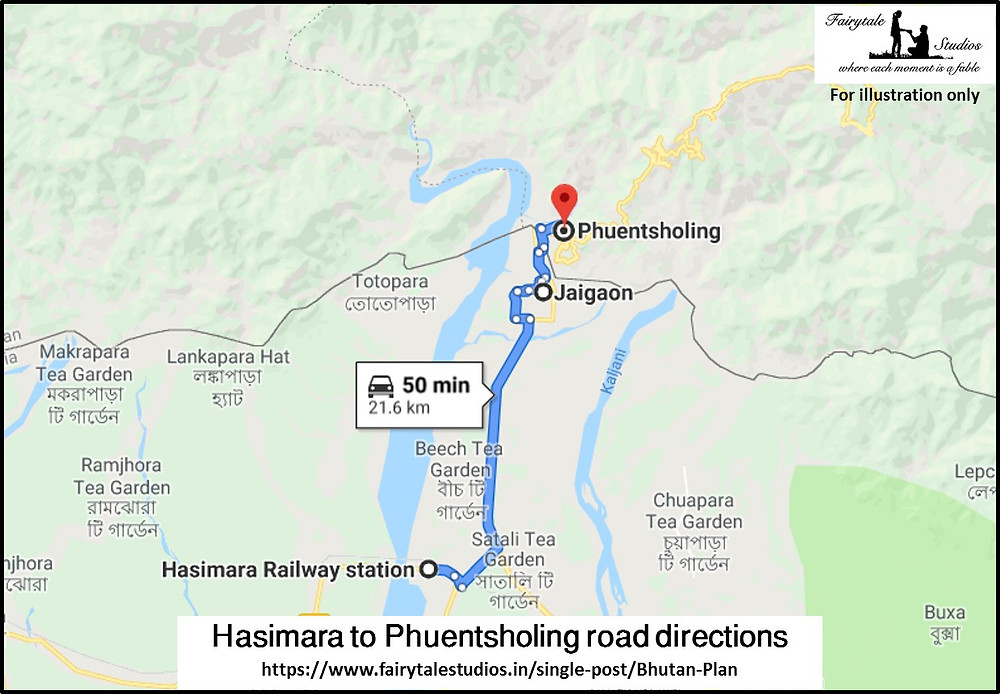 Road directions from Hasimara railway station, West Bengal to Jaigaon, Ind-Bhutanese border_Plan your trip to Bhutan_The Bhutan Odyssey