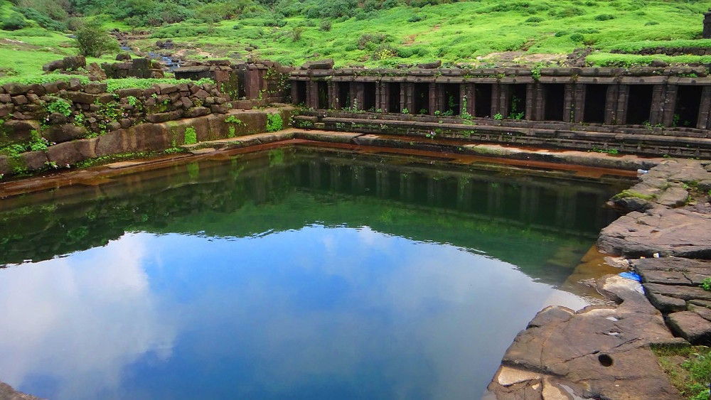 Saptatirtha Pushkarni Lake, Harishchandragad Fort trek, Maharashtra. Image sourced from Google Images
