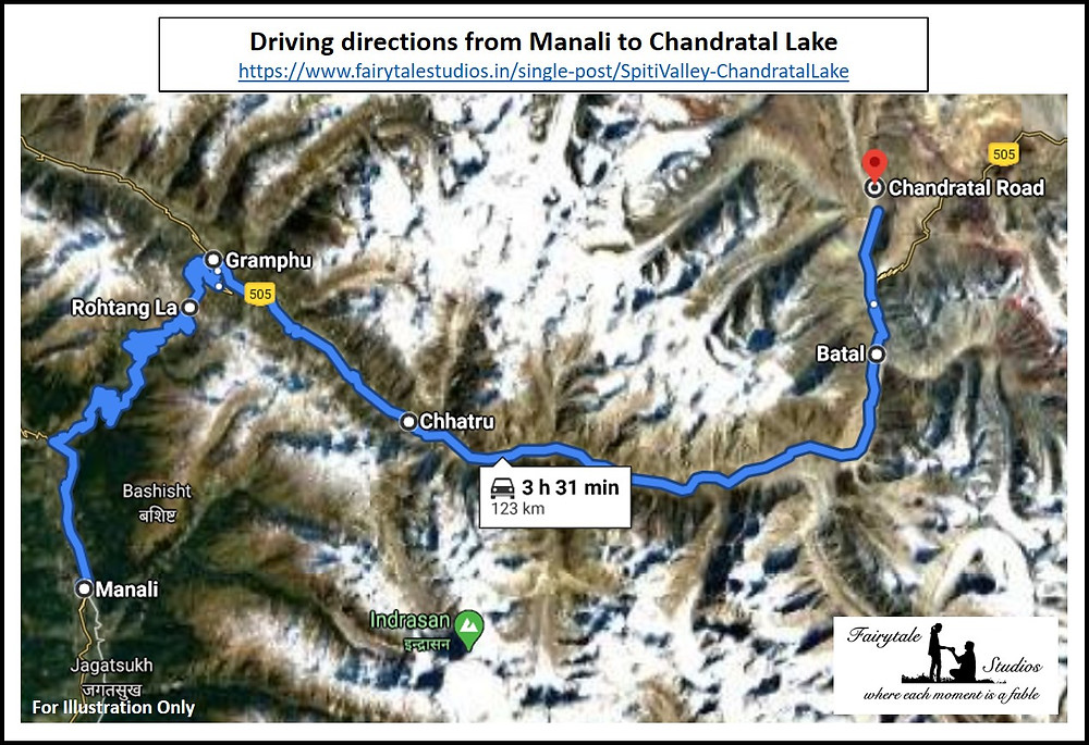 Driving directions from Manali to Chandratal Lake, Spiti Valley - Himachal Pradesh, India