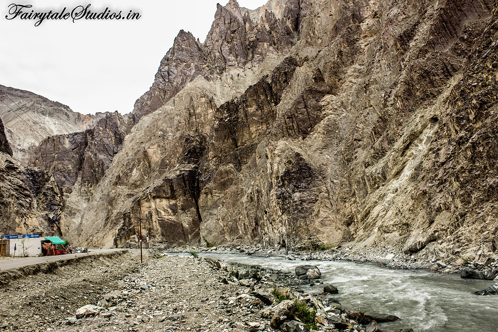 Rugged textures of rocky mountains enroute to Kargil (The Zanskar Odyssey travelogue)