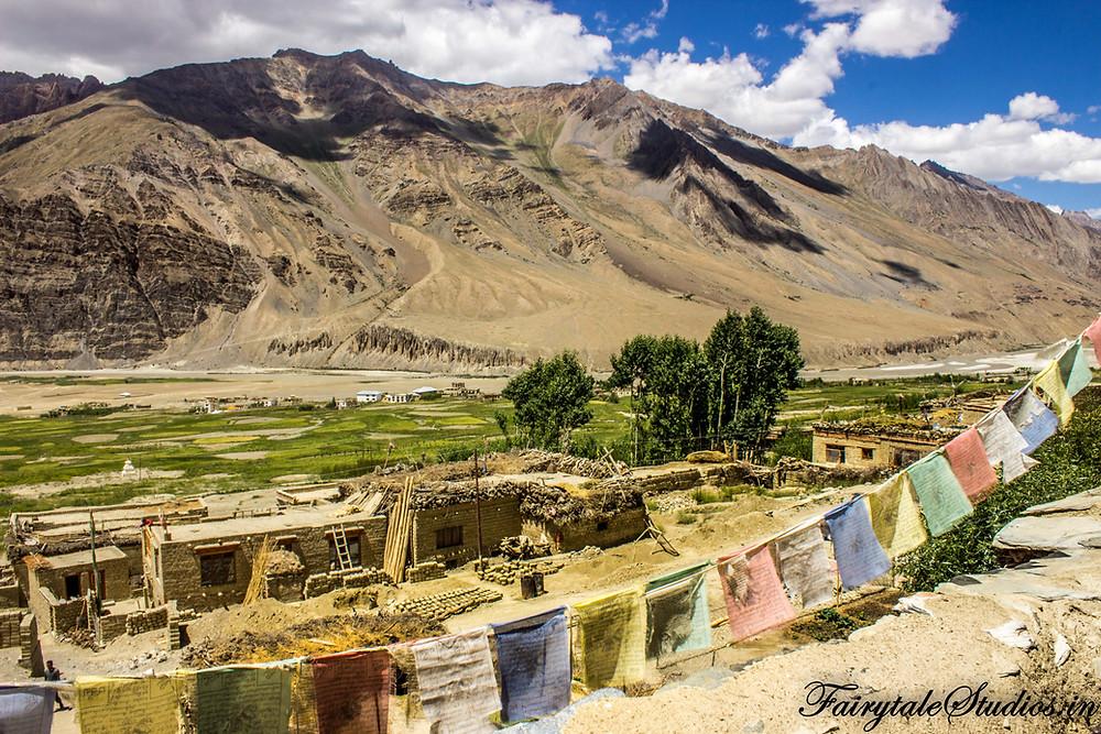 Views of valley from Zangla palace (The Zanskar Odyssey Travelogue)