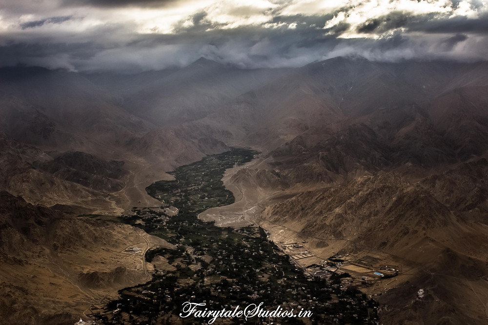 A city in Ladakh surrounded by cold barren deserted Himalayas (The Zanskar Odyssey)