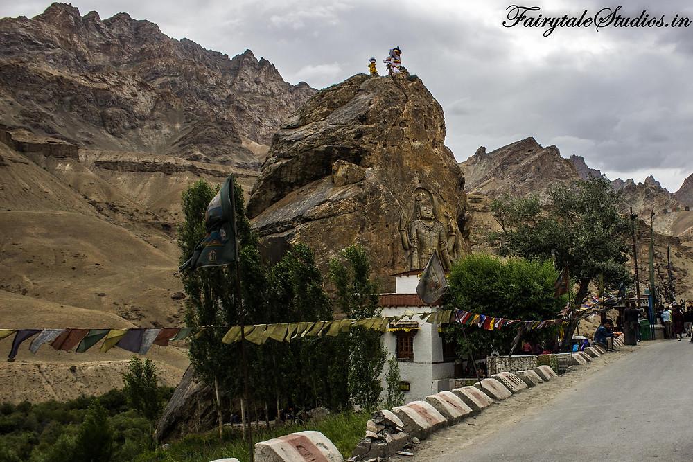 Maitreya Buddha in Mulbekh Monastery in Ladakh (The Zanskar Odyssey travelogue)