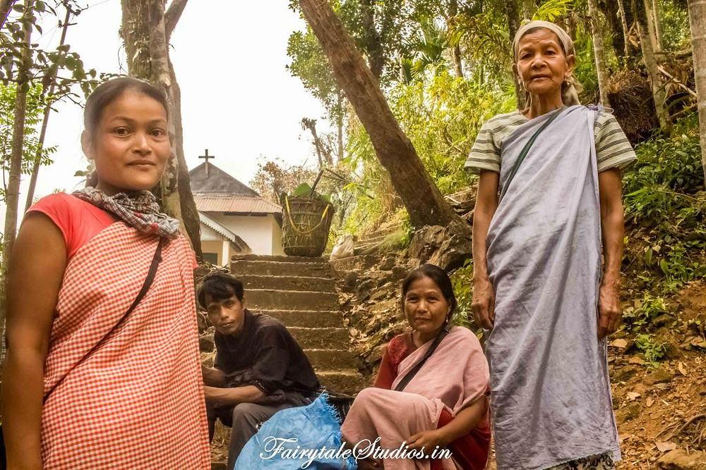 Jainsem attire worn by people of Meghalaya