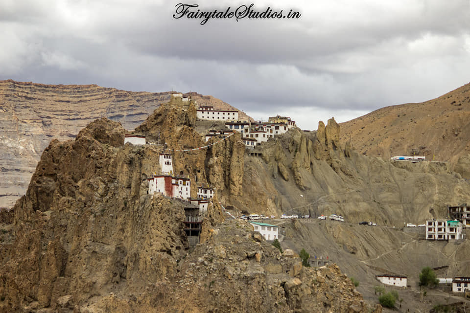 Dhankar monastery and fort perched on a hilltop above Dhankar village, Spiti Valley_Himachal Pradesh, India