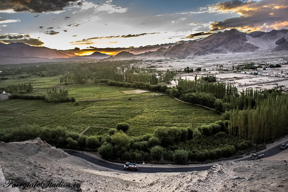 Sunset in Indus Valley seen from Thiksey Monastery (The Zanskar Odyssey)