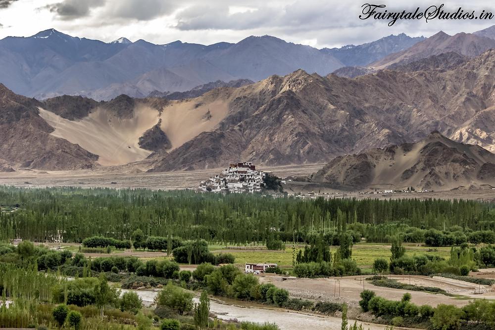 View of Thiksey Monastery from Stakna Monastery (The Zanskar Odyssey)