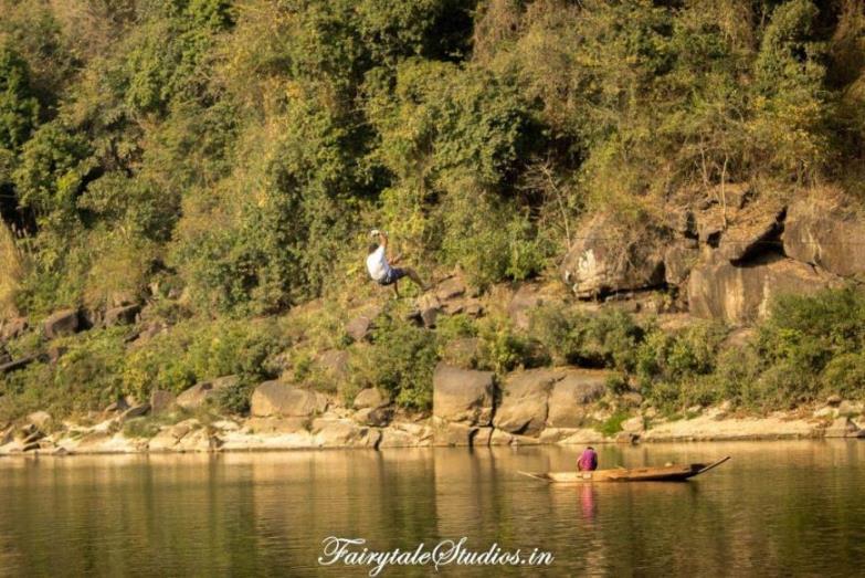 20. Shnongpdeng_Ziplining at Pioneer Adventures campsite near Umngot river_The Meghalaya Odyssey_Fairytale Travel blog