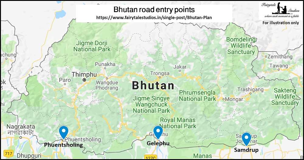 Indo-Bhutanese road entry points_Plan your trip to Bhutan_The Bhutan Odyssey