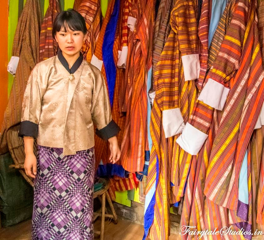 Shop renting Gho and Kira- the Bhutanese national dress, Paro - Bhutan_The Bhutan Odyssey - Places to visit in Paro