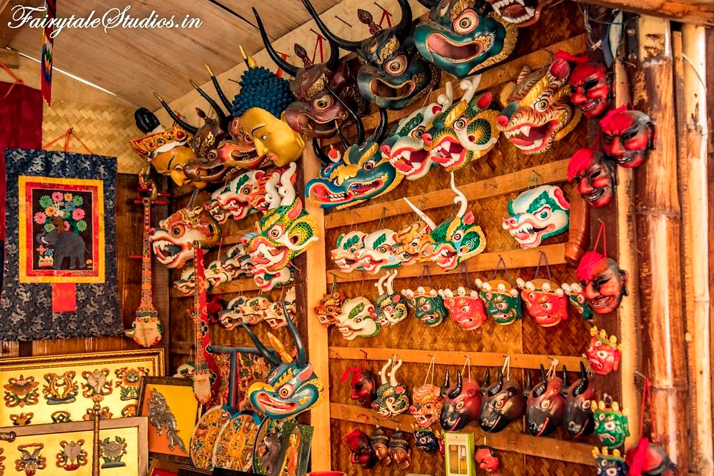 Colorful face masks used in the district festivals 'tsechu' in Bhutan_Plan your trip to Bhutan_The Bhutan Odyssey