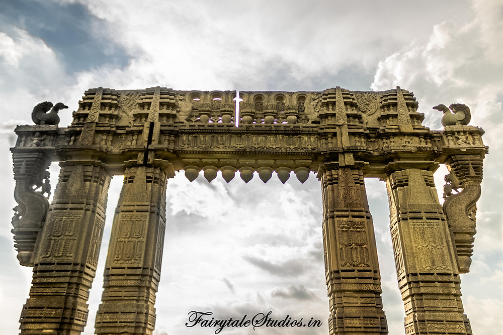 The iconic gate from Kakatiya dynasty found in warangal which is also symbol adopted by Telangana government